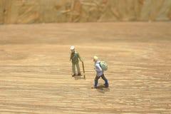 Mini Figure av handelsresanden på deras spets Fotografering för Bildbyråer