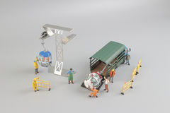 Mini figure with cable car at the site. The Mini figure with cable car at the site Stock Images
