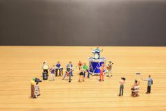 A mini of Figures music band on show. The mini of Figures music band on show royalty free stock image