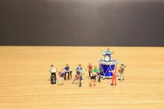 A mini of Figures music band on show. The mini of Figures music band on show royalty free stock photography
