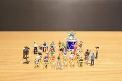 A mini of Figures music band on show. The mini of Figures music band on show royalty free stock photos