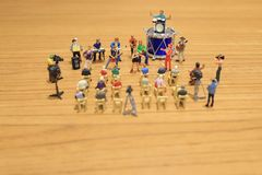 A mini of Figures music band on show. The mini of Figures music band on show royalty free stock photo