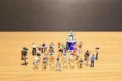 A mini of Figures music band on show. The mini of Figures music band on show stock image