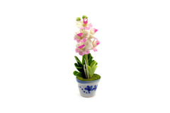 Mini fiore dell'argilla nel vaso Immagini Stock Libere da Diritti