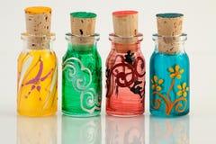 Mini flessen royalty-vrije stock foto's