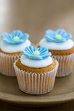 Mini flower cupcakes Stock Photo