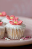 Mini flower cupcakes Royalty Free Stock Photo