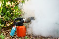 Mini Fogging Machines Manufacturers mosquitoes and insects.  Stock Photography