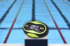 Mini fondo portatile della piscina MP3 fotografia stock libera da diritti