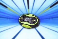Mini fondo portatile della piscina MP3 fotografie stock