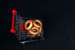 Mini food cart with food royalty free stock photos