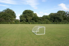Mini football goal in Cambridge Royalty Free Stock Image
