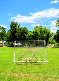 Mini Football goal in College Royalty Free Stock Photography