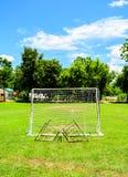 Mini Football mål i högskola Royaltyfri Fotografi