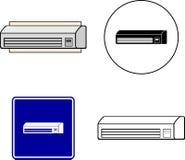 Mini fractura del acondicionador de aire Foto de archivo