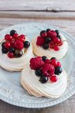Mini pavlova cake. royalty free stock image