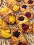 Mini fresh Danish pastry Royalty Free Stock Photos