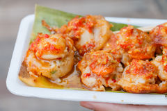 Mini Fried Mussels in Batter,Floating market at Ayutthaya Royalty Free Stock Photos