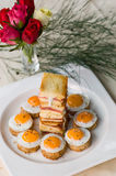 Mini Fried Quail Eggs And bacon Royalty Free Stock Photo