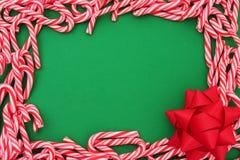 Mini frontera del bastón de caramelo imagen de archivo libre de regalías