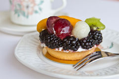 Mini fruit tart Royalty Free Stock Images