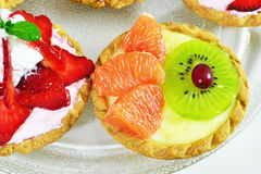Mini fruit tart Stock Photography