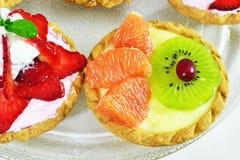 Mini fruit tart stock photography