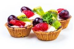 Mini fruit tart Stock Image