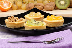 Mini fruit tarts Royalty Free Stock Image