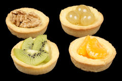 Mini fruit tarts Royalty Free Stock Photos