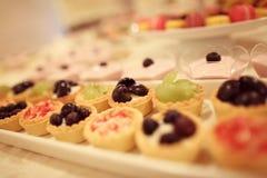 Mini Fruit Tarts Royalty-vrije Stock Foto