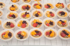 Mini Fruit Tarts stock afbeelding