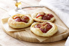 Mini fruit tarts with grapes Stock Photo