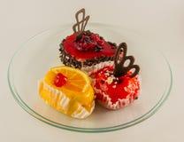 Mini fruit tarts. Sweet desert Stock Image