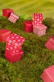 Mini fundo dos presentes Foto de Stock