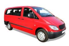 Mini furgoneta roja Imagen de archivo libre de regalías