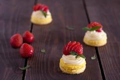 Mini gâteau Photos libres de droits