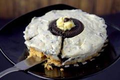 Mini gâteau au fromage d'oreo images stock
