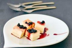 Mini gâteau au fromage de myrtilles Photo libre de droits
