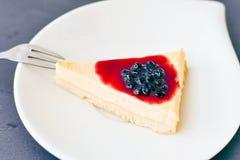 Mini gâteau au fromage de myrtilles Photo stock