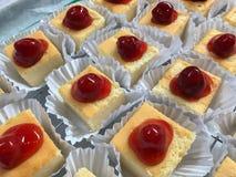 Mini gâteau au fromage de yaourt Photographie stock libre de droits