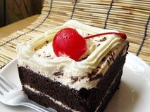 Mini gâteau délicieux de forêt noire Photo stock