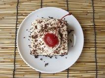 mini gâteau de forêt noire de café Photo libre de droits