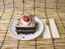 mini gâteau de forêt noire de café Image libre de droits