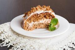 Mini gâteaux à la carotte avec de la crème du mascarpone et du miel Images libres de droits