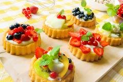 Mini gâteaux de fantaisie Image stock