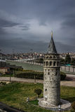 Mini Galata tower. A shot of a scale production of Galata Tower taken at Miniaturk, Istanbul Turkey Royalty Free Stock Photos