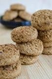 Mini galletas de la harina de avena Imagenes de archivo
