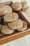 Mini galletas de la harina de avena Foto de archivo libre de regalías