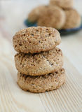 Mini galletas de la harina de avena Fotografía de archivo